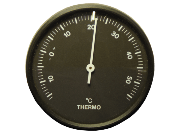 Thermometer analog - schwarz