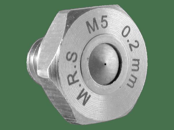 M.R.S. Micro Nebeldüse Düsenkopf Edelstahl Bohrung 0,2 mm