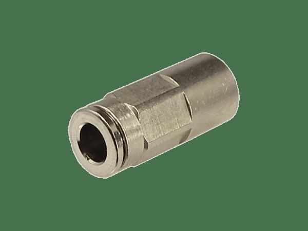 Aufschraub - Steckverbinder Metall 1/8 Zoll - 4mm