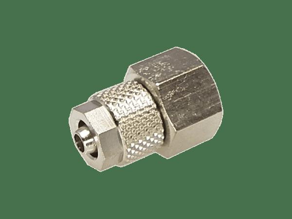Aufschraubverschraubung mit Innengewinde 1/8 Zoll - 6/4mm
