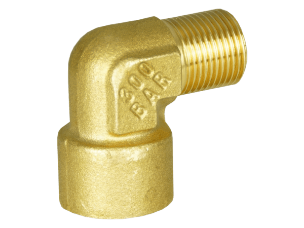 Winkelverschraubung Hochdruck - 3/8 Zoll Innen/Außengewinde Messing