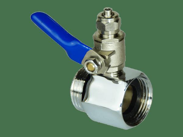 Osmoseanlage Anschlussadapter mit Absperrhahn 1/2 - 3/8 Zoll