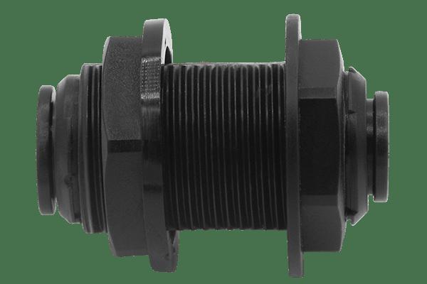 Schottverbinder-Durchführung mit Steckanschluss und Dichtflansch