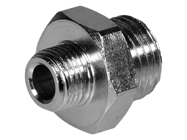 Doppelnippel Außengewinde reduziert M5 - 1/8 Zoll