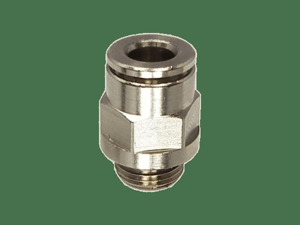 Einschraub-Steckverbinder Metall 1/4 Zoll - 6 mm