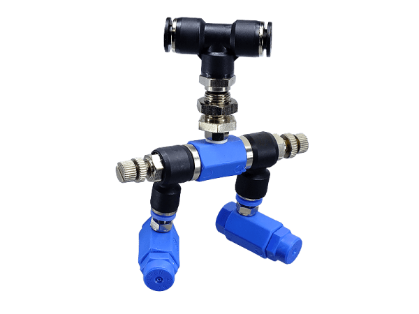 Blue-Line Duo Düse 80° Sprühregen Durchfluss regelbar
