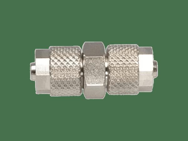 Schlauchverbinder 6/4 mm gerade mit Überwurfmutter