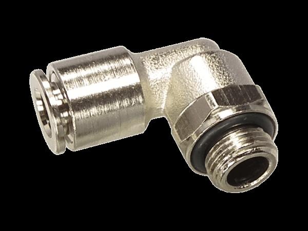 Winkel-Einschraubverschraubung Metall 1/4 Zoll