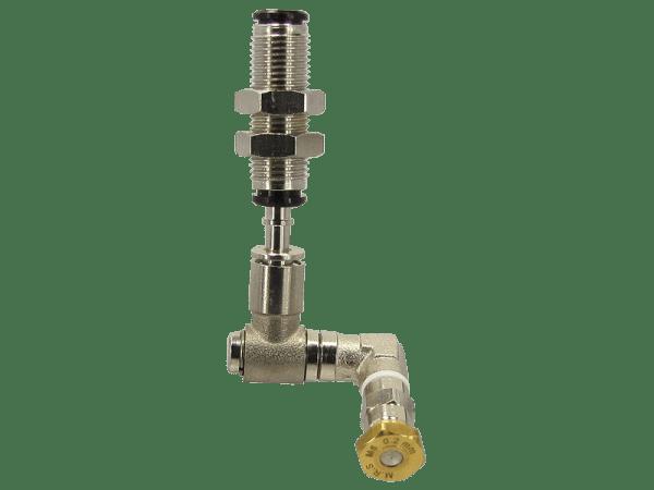 M.R.S. Micro-Nebeldüse schwenkbar mit Schottverbinder 4 mm