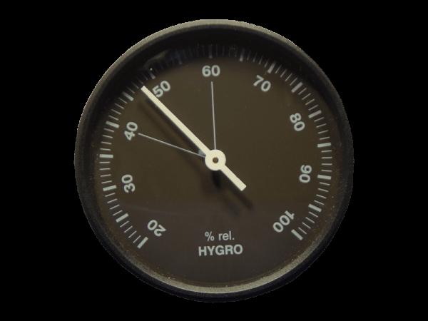 Hygrometer analog - schwarz