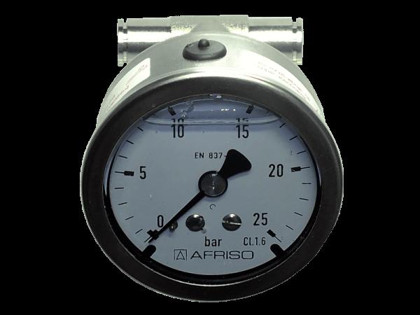 Glyzerin Manometer 0 - 25 bar mit Schlauchanschluss
