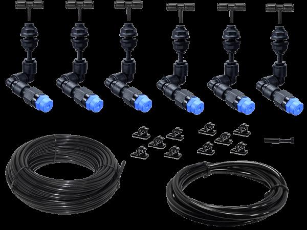 Beregnungsanlage Bausatz Easy-Line mit 6 KS - 360° Düsen
