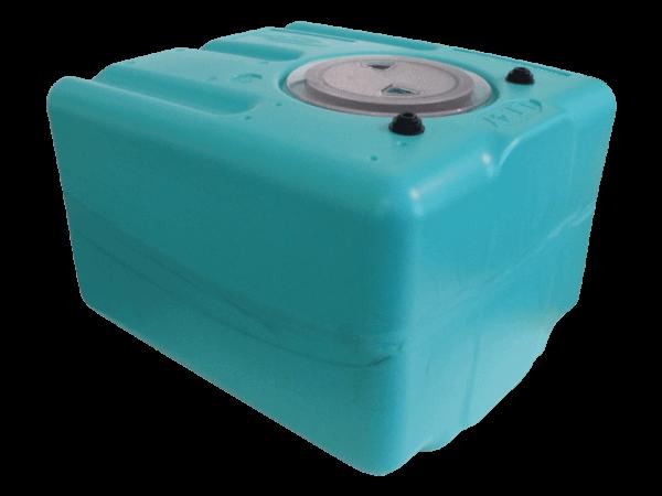 Wassertank 45 Liter inkl. Filtersystem u. Bypassrücklauf
