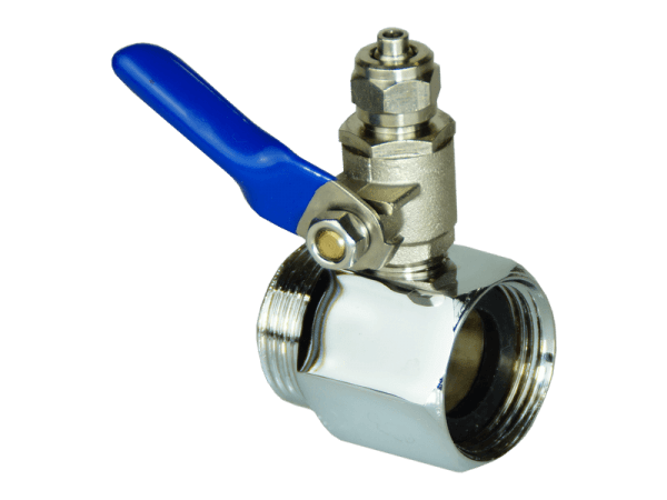 Osmose Anschlussadapter mit Absperrhahn 3/4 - 1/4 Zoll