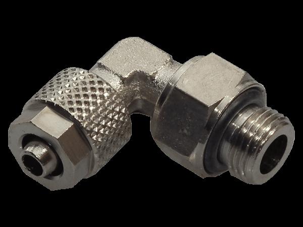 Winkel-Einschraubverschraubung mit Überwurfmutter 1/8 - 6/4mm