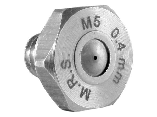 M.R.S. Micro-Nebeldüse Edelstahl Düsenkopf Bohrung 0,4 mm
