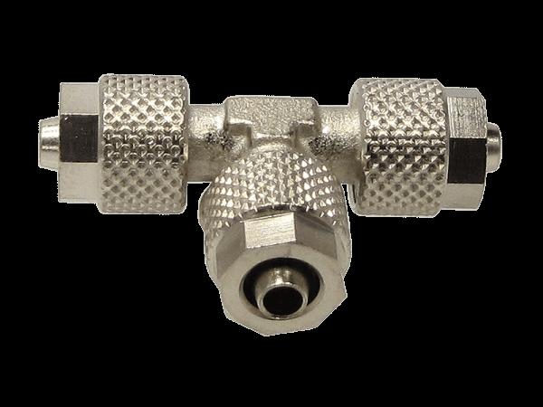T-Schnellverschraubung mit Überwurfmutter 12/10 mm