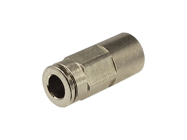 Aufschraub - Steckverbinder Metall 1/4 Zoll - 6mm
