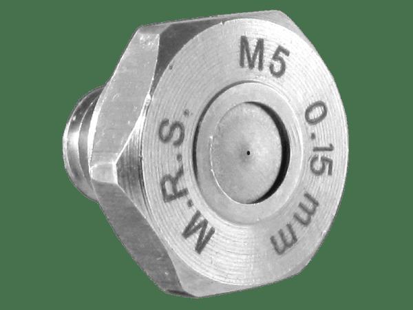 M.R.S. Micro Nebeldüse Düsenkopf Edelstahl Bohrung 0,15 mm