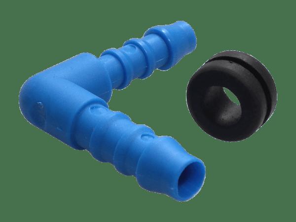 Auslauftstutzen gewinkelt - Anschluss Set für Wassertank