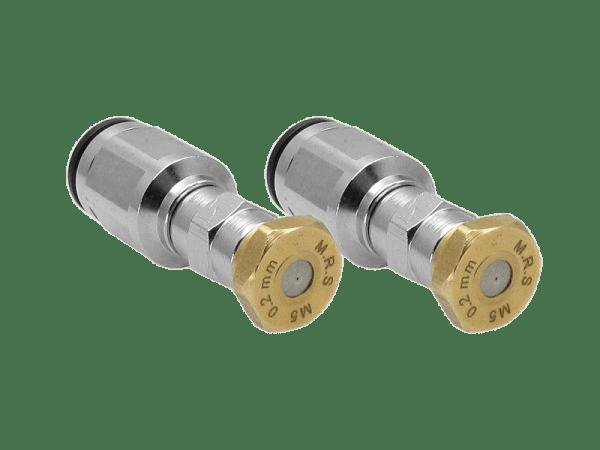 2 M.R.S. Micro-Nebeldüsen mit Schnellsteckverschluss