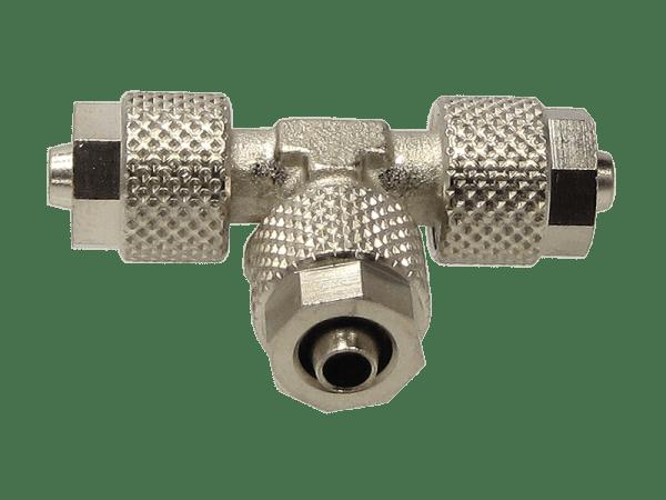 T-Schnellverschraubung mit Überwurfmutter 6/4 mm