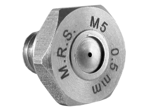 M.R.S. Micro Nebeldüse Düsenkopf Edelstahl Bohrung 0,5 mm