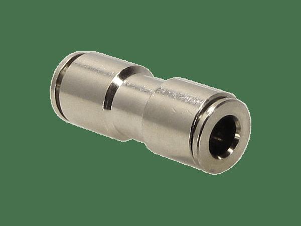 Schlauchverbinder Metall gerade - reduziert 6 auf 4 mm