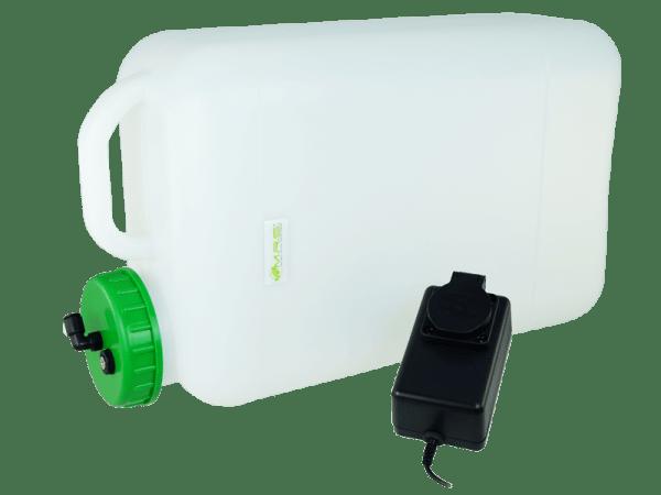 Weithals Wassertank 20 Liter mit Trockenlaufschutz u. Auslaufstutzen