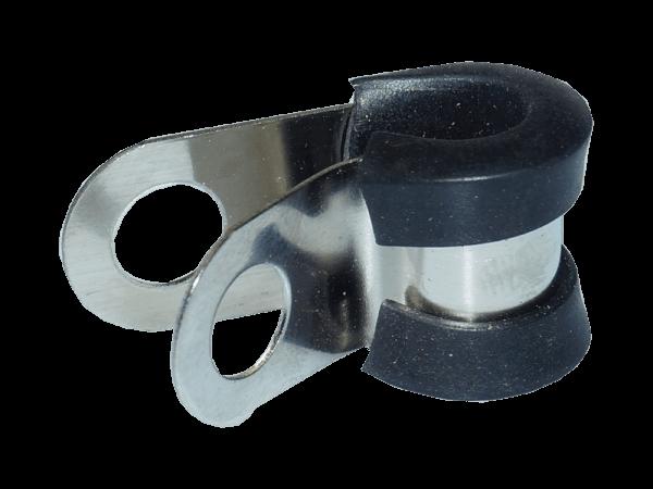 Schlauchschelle für 1/4 Zoll und 6 mm Druckschlauch - gummiert