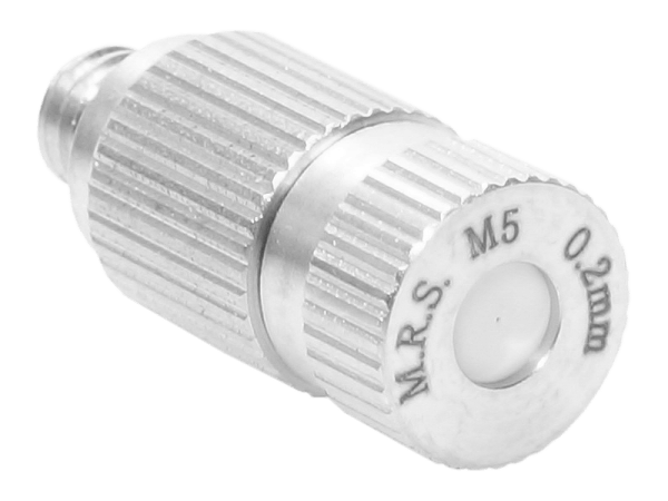 M.R.S. Anti-Tropf Keramik Nebeldüse Düsenkopf Bohrung 0,2 mm