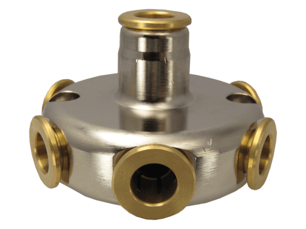 """Hochdruck Schlauchverteiler Spin 6-fach 3/8"""" - 9,6 mm"""