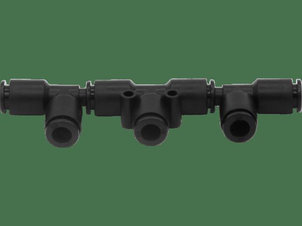 Dreifach-Durchgangsverteiler 2x 6mm auf 3x 6mm
