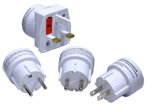 Reiseadapter Stecker Set - 4 teilig