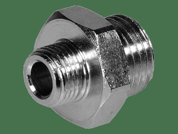 Doppelnippel Außengewinde - reduziert 1/2 Zoll - 1/4 Zoll